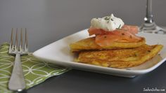 Mother's Day Dinner Idea-corn pancakes with smoked salmon