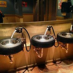 Great potential to sink to use in our micropub. Tyre sink.