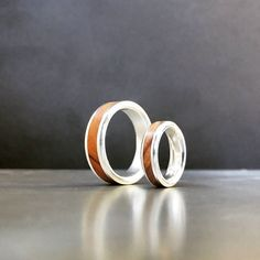 His and hers olive wood band set in Sterling silver Instagram Accounts, Rings For Men, Wedding Rings, Engagement Rings, Sterling Silver, Collection, Jewelry, Enagement Rings, Schmuck