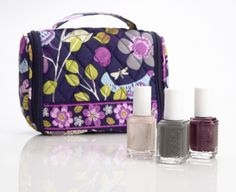 Vera Bradley Mini Hanging Organizer in Floral Nightingale, paired with imported bubbly, power clutch, and damsel in a dress from essie