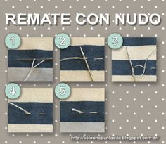 Sólo una puntadita...: Empezamos a coser: Rematamos la costura con un nudo Modelista, How To Make Clothes, Sewing Hacks, Ideas Para, Needlework, Diy And Crafts, Embroidery, Bee, Pattern