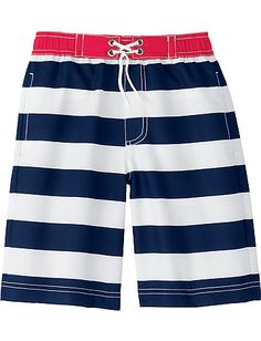 7 cool swim trunks for boys this summer | these from hanna andersson
