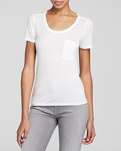 There's nothing basic about this plain white tee. #100PercentBloomies