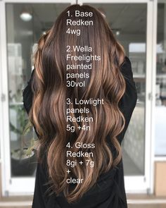 Redken Hair Color, Salon Hair Color, Hair Color Balayage, Reverse Balayage, Balayage Brunette, Haircolor, Hair Color Formulas, Redken Color Formulas, Redken Hair Products