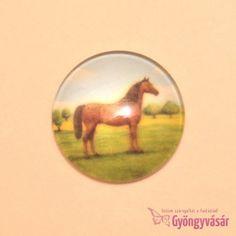 Barna ló mintás, 25 mm-es üveglencse • Gyöngyvásár.hu Personalized Items