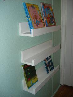 3 Children Shelves Book Ledges Toddler Reading by lestudio2, $58.95. http://www.etsy.com/listing/111107291/3-children-shelves-book-ledges-toddler?