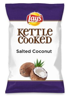 Wouldn't Salted Coconut be yummy as a chip? Lay's Do Us A Flavor is back, and the search is on for the yummiest chip idea. Create one using your favorite flavors from around the country and you could win $1 million! https://www.dousaflavor.com See Rules.