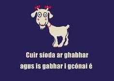 Cur síoda ar ghabhar agus is gabhar i gcónaí é.put silk on a goat and it's still a goat. Class Rules Poster, Gaelic Words, Irish Proverbs, Irish Language, Animal Masks, Language Activities, Studyblr, My Father, Beautiful Words