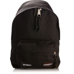 Vetements X Eastpack Black Canvas Mini Backpack (30.875 RUB) ❤ liked on Polyvore featuring bags, backpacks, canvas knapsack, miniature backpack, oversized bags, oversized backpacks and mini bag