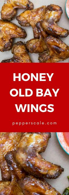 There's both sweet and heat in this honey Old Bay wings recipe, making for one bold appetizer. They're perfect for game day or the family party. With video. Best Chicken Wing Recipe, Chicken Wing Recipes, Chicken Ideas, Air Fry Chicken Wings, Smoked Chicken Wings, Honey Recipes, Spicy Recipes, Cooking Recipes, Ina Garten