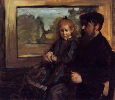A Mante Család - Edgar Degas - WikiArt.org Henri Rouart és lánya Helene, 1871-1872