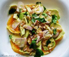 Receitas para a Felicidade!: Salada de Laranja com Abacate em Vinagrete de Chalota