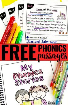 FREE Phonics Reading Passages. These are a perfect first grade reading activity. Click now to download your free passages!
