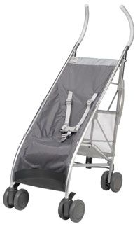 Maclaren Stroller by Philippe Starck - does not recline, but lightweight and sleek, my toddler loves it!
