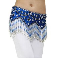 Hip Scarf Wholesale AOZIDAO Top Grade Beading Bells Hip Scarf Belly Dance Belt - DinoDirect.com