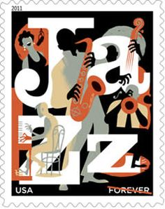 Forever stamp | Jazz Appreciation U.S. Postage Stamp, issued on March 26, 2011.