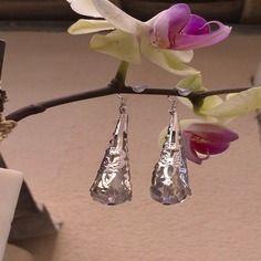 Boucles d'oreilles en argent 925 avec stoppeur, perle de cristal et calotte argent