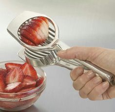 Use an egg slicer to cut up strawberries! (Or any soft fruit!)