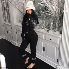 Ky:Earlier this month Kylie Jenner, 20 - who is reportedly pregnant with her first child - showed off her massive Christmas tree inside her Hidden Hills home