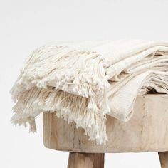Organic Cotton Tassel Throw from Dear Keaton