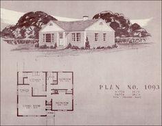 Post WWII floor plan
