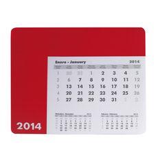Ten un calendario a mano en la alfombrilla de tu ratón.