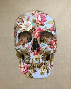 Skull by Gerard King Sugar Skull Painting, Sugar Skull Decor, Crane, Skull Anatomy, Halloween Bottles, Human Body Art, Skull Pictures, Skull Artwork, Skull Mask