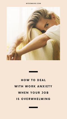 How to deal with a stressful work environment.