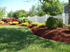 Simple design along clasic white picket fence