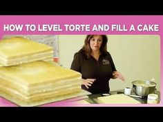 como cortar e recher bolos How to Level Torte and Fill a Cake Cupcake Decorating Tips, Cake Decorating Techniques, Fondant Cakes, Cupcake Cakes, Cupcakes, Bolo Youtube, Cake Youtube, Crumb Coating A Cake, How To Stack Cakes