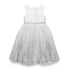 jcp   Marmellata Glitter Dot Flower Girl Dress - Girls 12m-6y $23