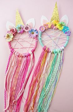 DIY: unicorn dreamcatcher