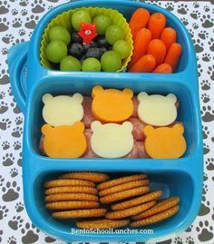 Bear themed Kids DIY Lunchables. #goodbyn