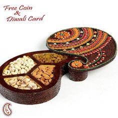 Keri design multi utility dry fruit Box - Online Shopping for Diwali Sweet Hampers by Apno Rajasthan