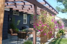 Backyard Pergola. We'd paint it white to match the rest of the trim on the house.