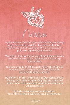 Nutrition - affirmation