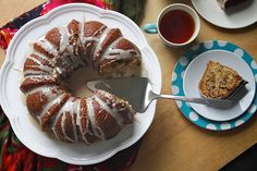 Sour cream coffee cake. I think I'm becoming obsessed with baking bundts.