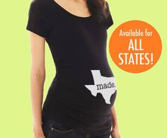 Special Delivery State Postmark Maternity by SevenMilesPerSecond Pregnancy Shirts, Maternity Shirts, Baby Bug, Maternity Fashion, Maternity Wardrobe, Baby Time, T Shirts For Women, Clothes For Women, Maternity Pictures