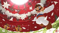 Secret Flower Field by VegaColors on DeviantArt Super Mario Nintendo, Super Mario And Luigi, Super Mario Games, Nintendo Super Smash Bros, Super Mario Art, Super Mario World, Super Mario Brothers, Cartoon Video Games, Video Games Funny