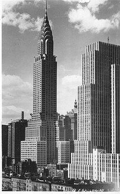 "The Chrysler Building, an Art Deco masterpiece, designed by William Van Alen...""Thanks Bill""."