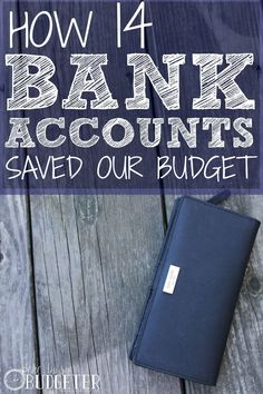 How 14 Bank Accounts Saved Our Budget. Yes! This! We started this 3 months ago, when my sister told me about it and even in such a short time it made such a difference. It's easy to keep track of even a small budget and you don;t have to worry about keeping cash and carrying cash everywhere. It's like a cash budget alternative.