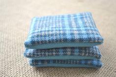 Balsam Sachets Wool Sachets Balsam Sachets Set by kookyhandbags Blue Wool, Blue Plaid, Woolen Socks, Scented Sachets, Friends, Handmade, Etsy, Products, Amigos