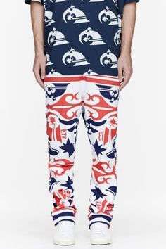 KTZ Nave tricolor Tattoo printed lounge pants