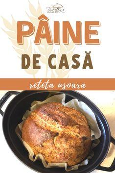 🏆 Pâine de casă – rețetă ușoară   BucătăriaNoastră.ro Maine, Bread Recipes, French Toast, Food And Drink, Cooking, Breakfast, Kitchen, Tejidos, Brot