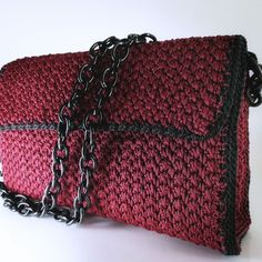 Bordeaux handmade Crochet bag