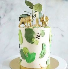 Sesame Street Birthday Cakes, Jungle Birthday Cakes, Jungle Theme Cakes, Dinosaur Birthday Cakes, Safari Cakes, Themed Birthday Cakes, First Birthday Cakes, Jungle Safari Cake, Safari Theme
