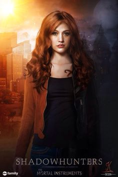 Kat McNamara Clary edit by K Design!! His is so cool it's got a mundane-Clary side and a Shadowhunter-Clary side!!!