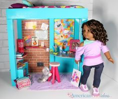 DIY American Girl Gabriela Loft Bed After reviewing Gabriela's Loft Bed last week a lot of requests came in to craft it out of foam board. Previously, there have been requests to craft McKenna's loft bed so this project is perfect for either bed! Just change the paint colors and customize it for your doll. …