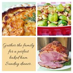 A Perfect Baked Ham Sunday Dinner - Spouse is working this weekend but she's off next week, so I'm planning one of her favorite Sunday dinners including A brown Sugar and Dijon Glazed Ham, Cashew and Bacon Brussel Sprouts and Gruyere and Thyme Potatoes Dauphinoise. Any other baked ham junkies out there?