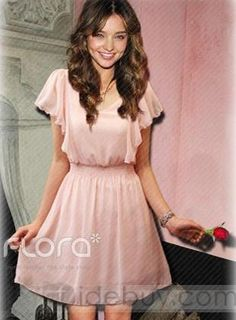Gorgeous light pink dress. i love the top and color. i wish it were a little bit longer though.